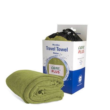 Care Plus Travel Towel Microfibre Medium - Groen