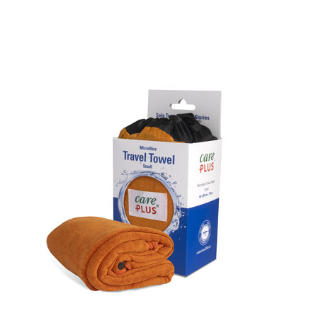Care Plus Travel Towel Microfibre Small - Oranje