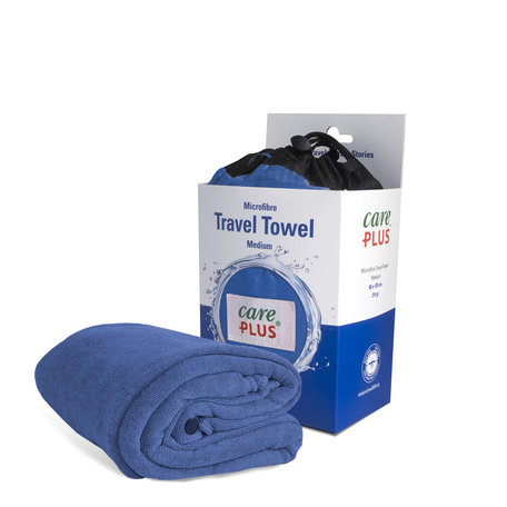 Care Plus Travel Towel Microfibre Medium - Blauw